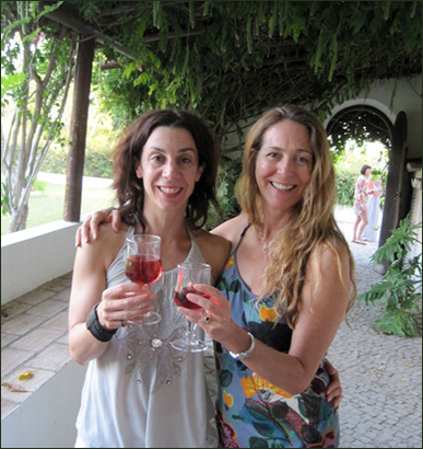 beate and liz in quinta mimosa